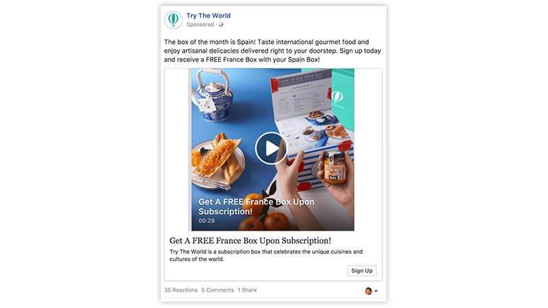 facebook ad example_winner picker