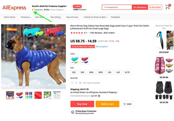 How to Find the Best Suppliers on AliExpress - Top Rated Badge