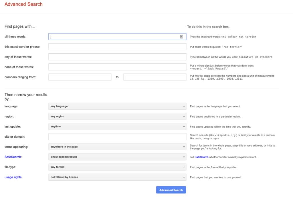 google advanced search - winner picker